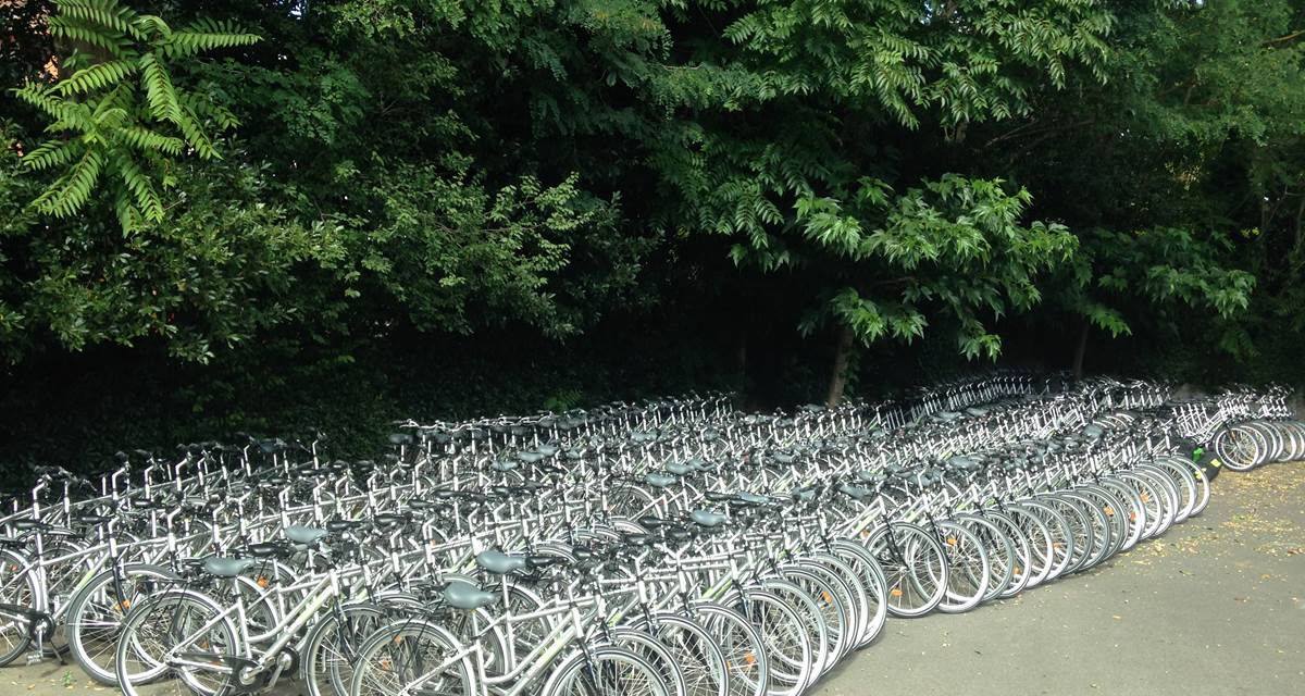 une capacité de 300 vélos !