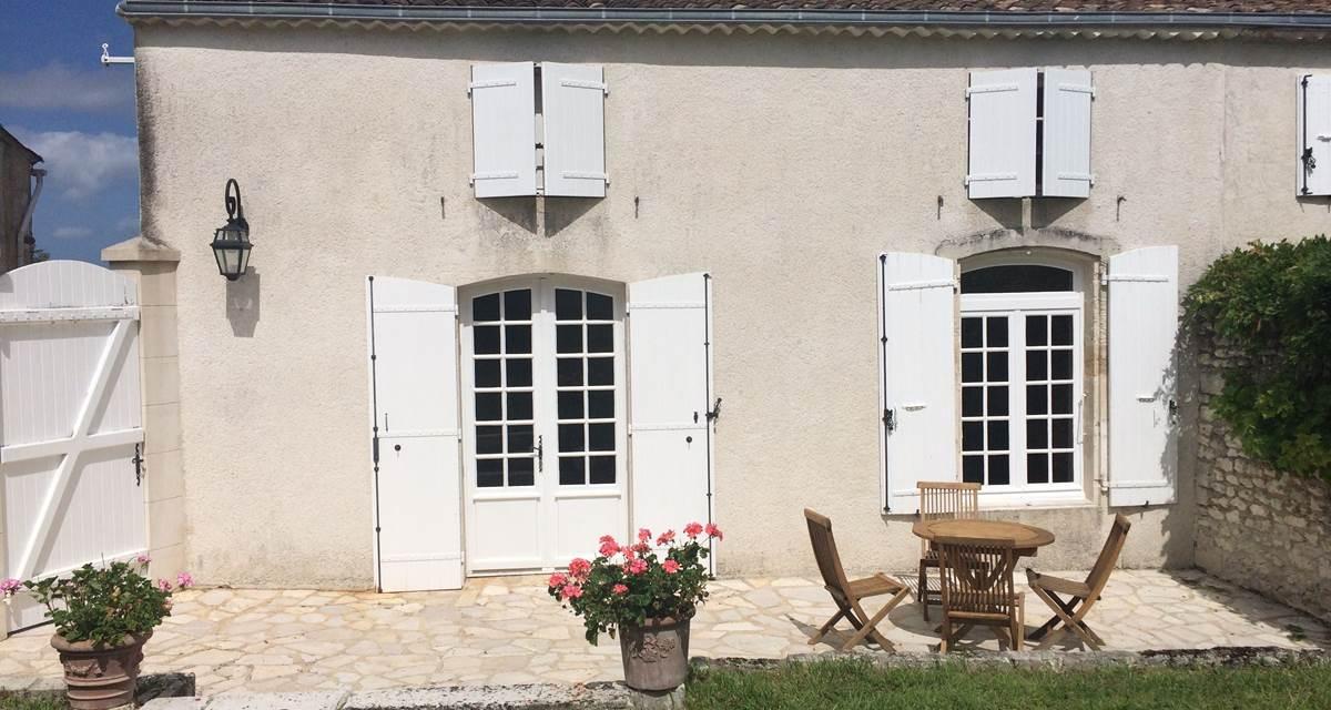 Terrasse privative de la maison d'hôte