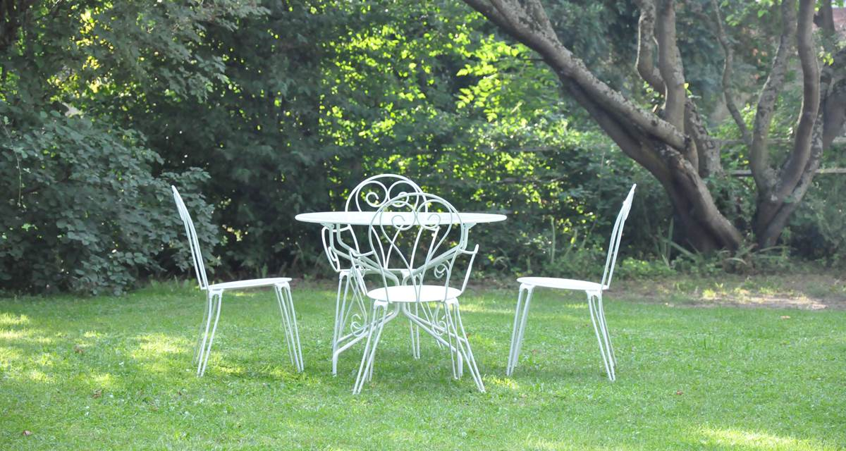 Jardin ambiance romantique