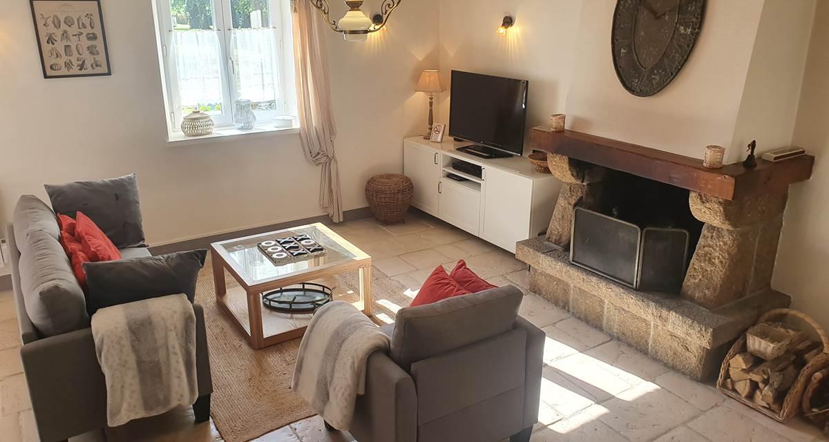 Le gîte Harmony - 112 m² - 6 personnes - 3 chambres - Sauna - Cheminée