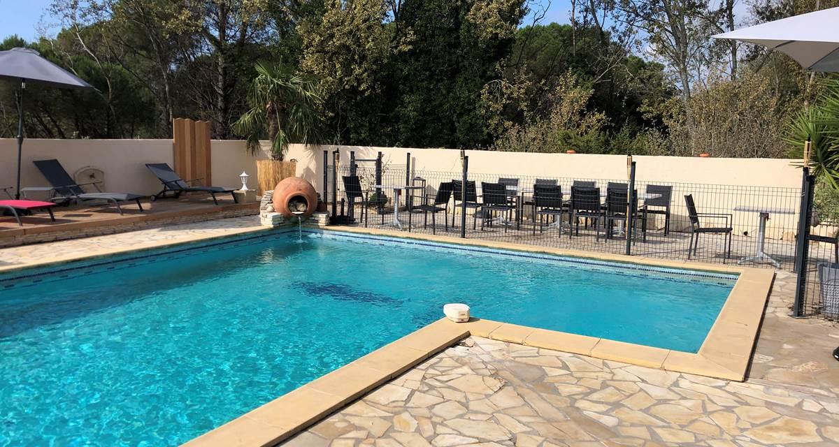 piscine vue terrasse