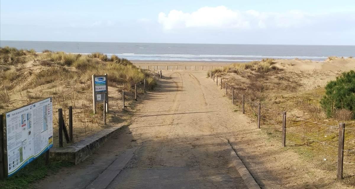La plage à 100mètres