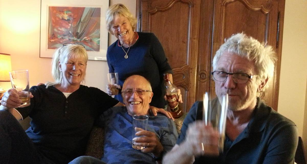 L'apéritif avec 2 couples américains et hollandais