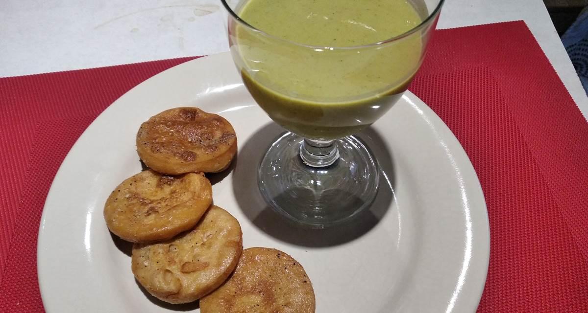 Soupe froide de courgette et panisses