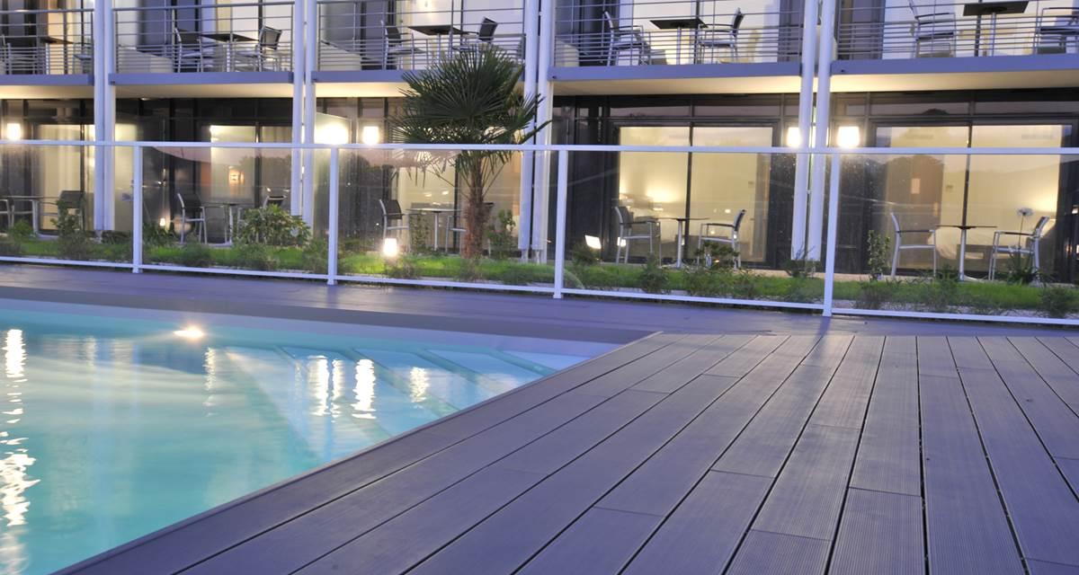 Hotel Eden Park Pau - vue piscine chambre double