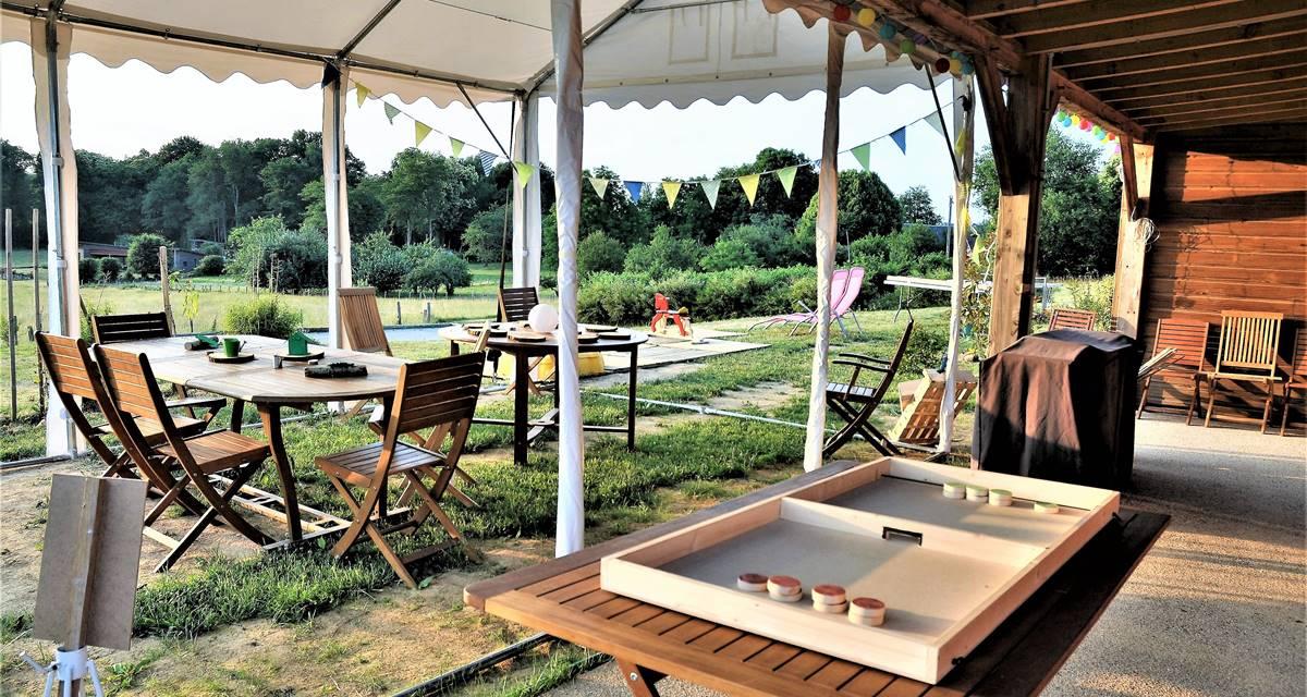 Le Green Camp d'Octavie  la terrasse