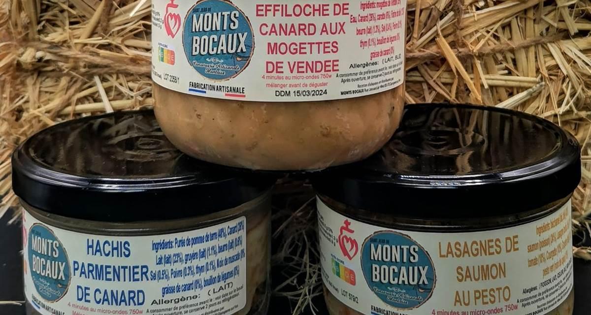 Petits Plats cuisinés maison par notre partenaire Monts Bocaux, cuisinier traiteur Vendéen.