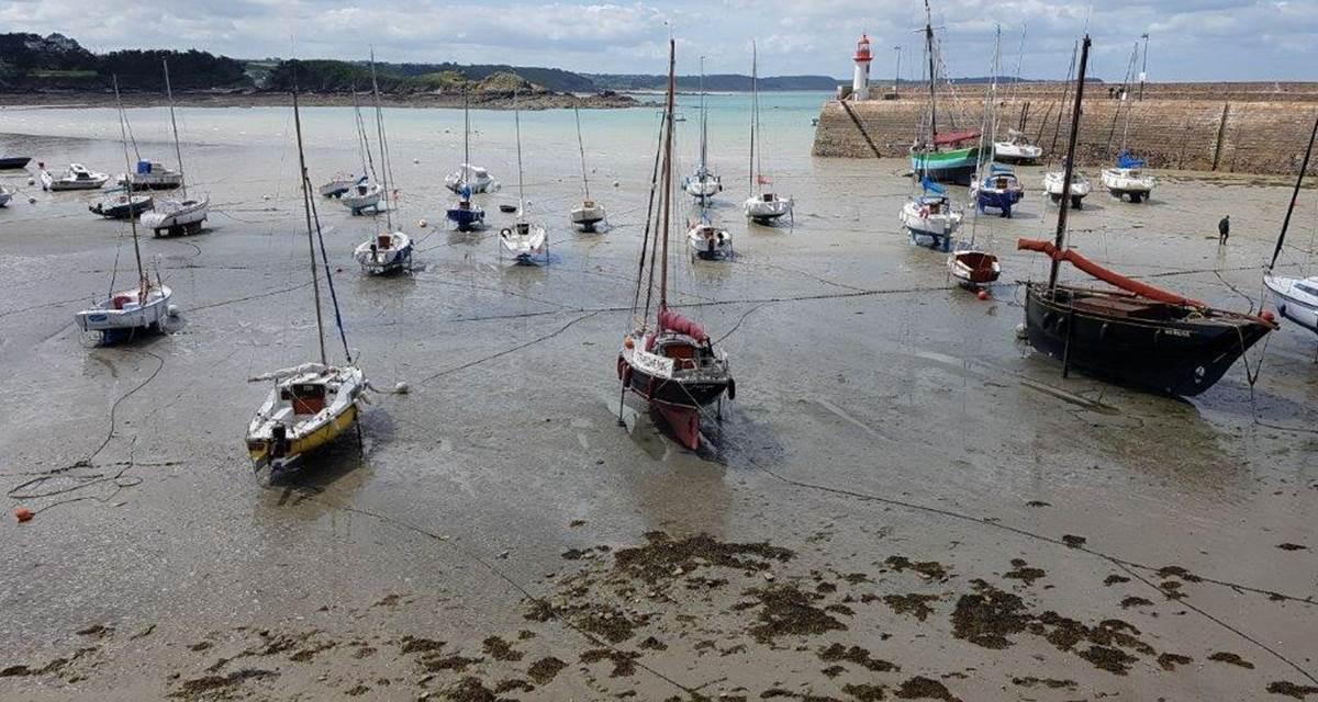 Port Erquy à marée basse