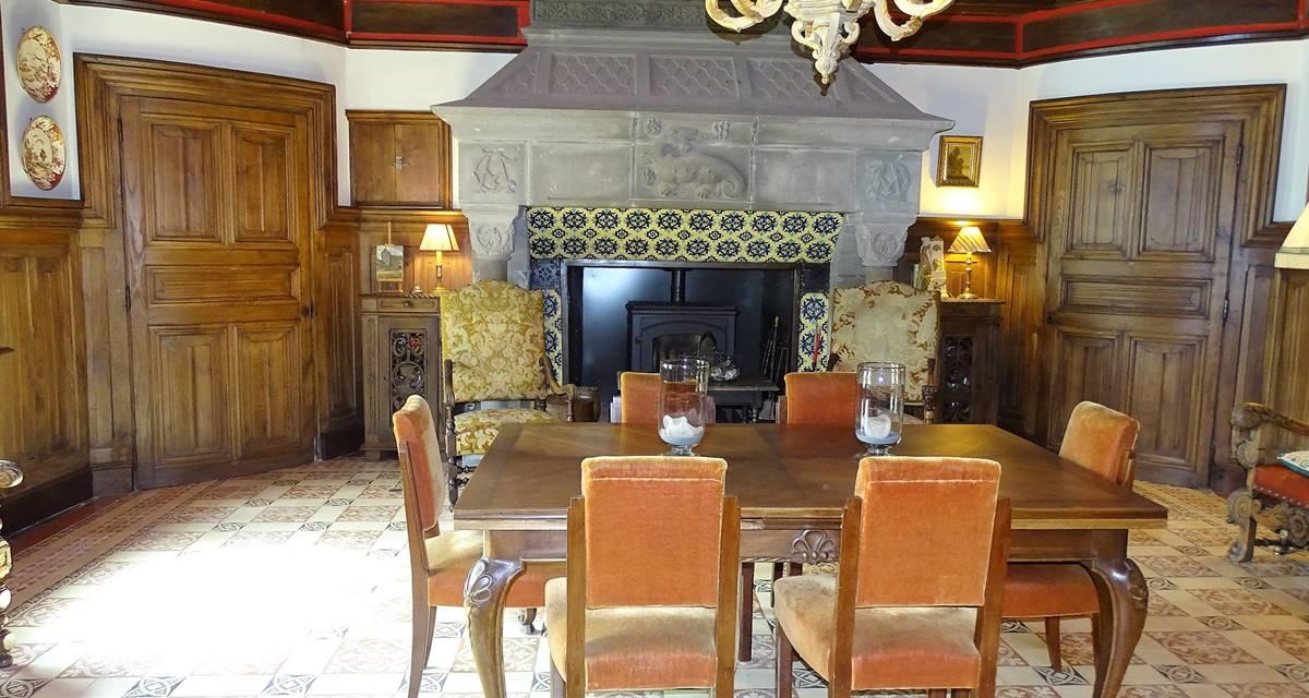Château de Crocq, salle à manger.