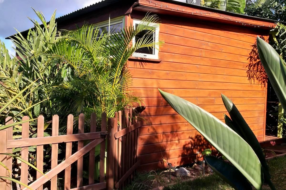 Ti Caze Nature, le bungalow dans son écrin de verdure