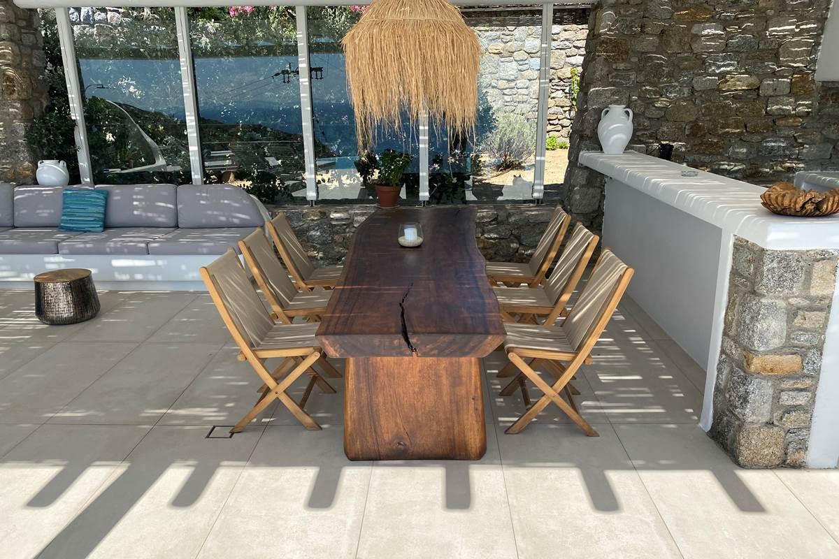 Espace repas  Villa Zelia Mykonos