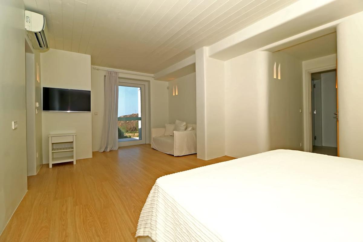 Suite vue mer avec terrasse villa zélia luxe Mykonos