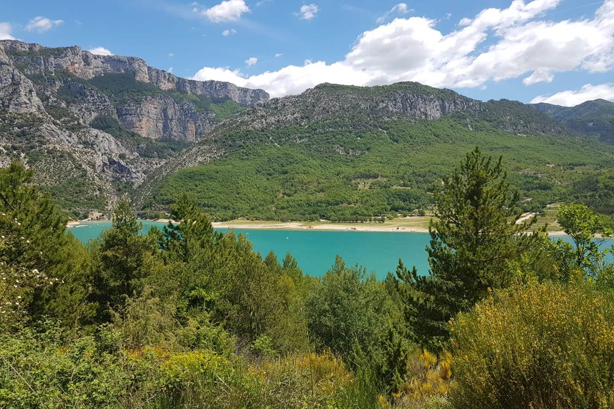 Lac de Ste Croix (photo de Chantal Ribennes)