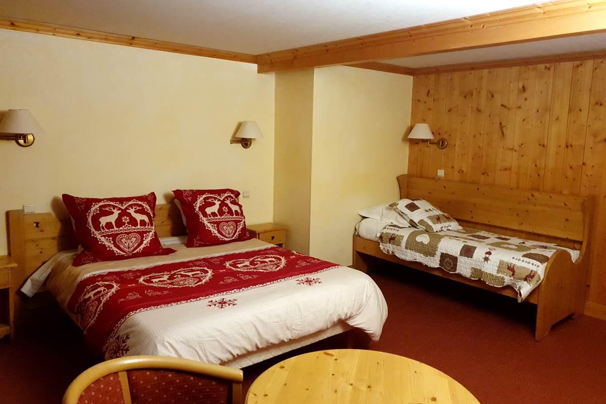 hôtel au ski Crest-Voland Hôtel Le Mont Bisanne Chambre au pied des pistes de l'espace diamant