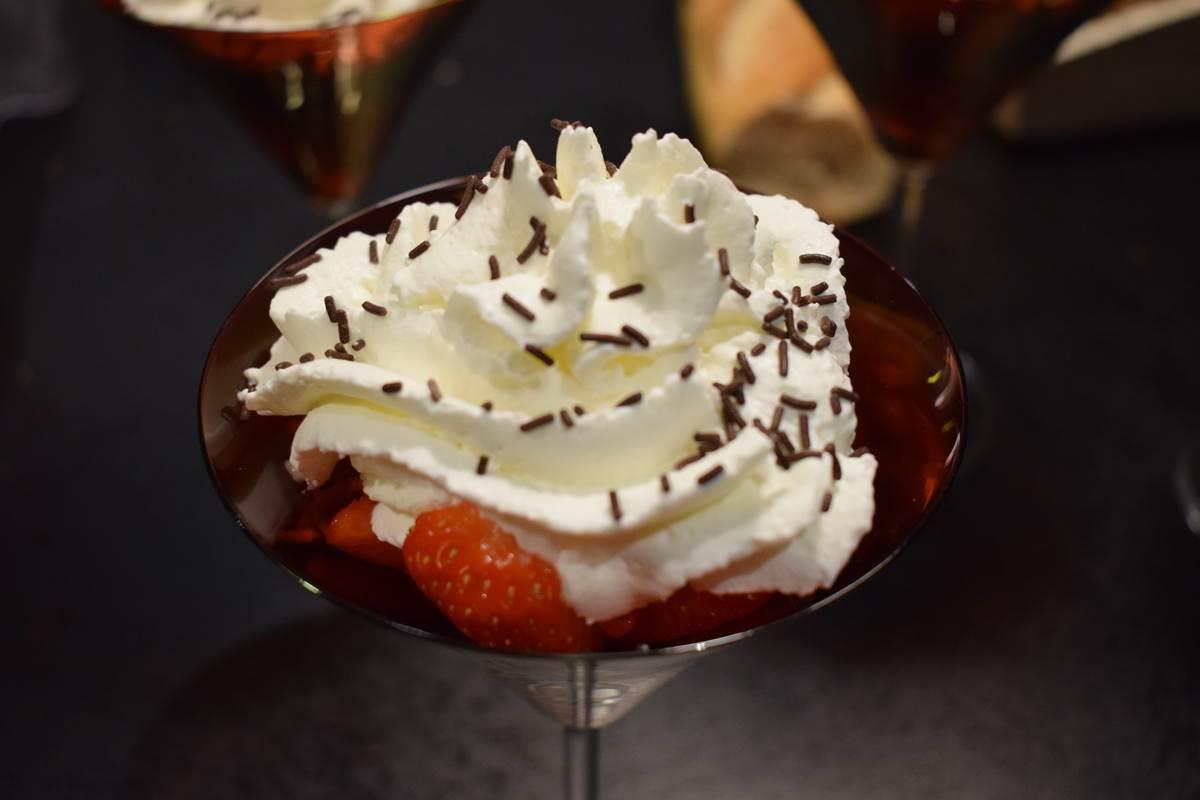 Coupe de fraise au Montbazillac