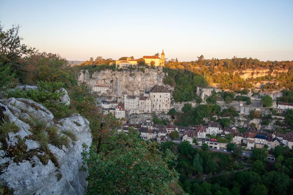 Lever de soleil à Rocamadour