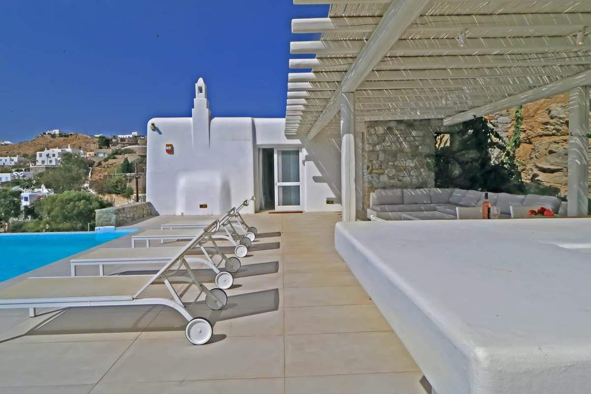 Terrasse villa zélia luxe Mykonos