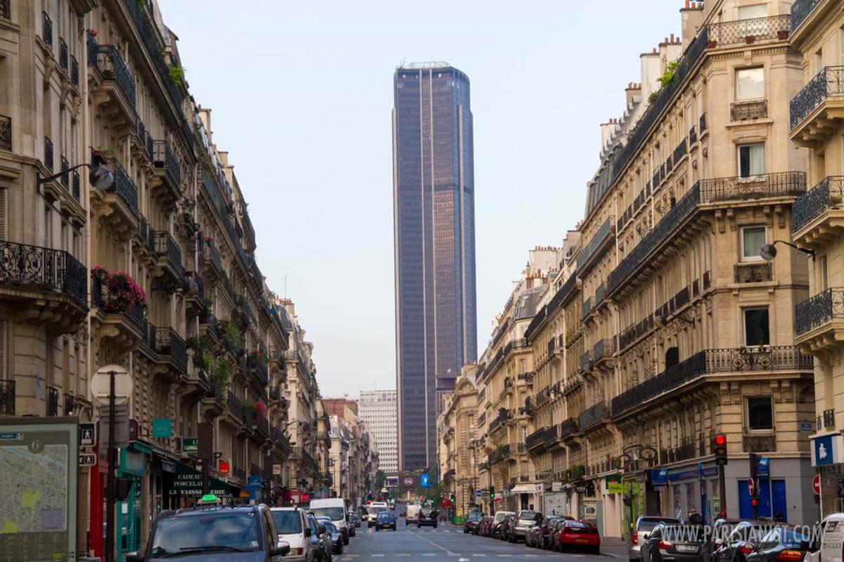 Vu de la Tour Montparnasse depuis la rue de Rennes