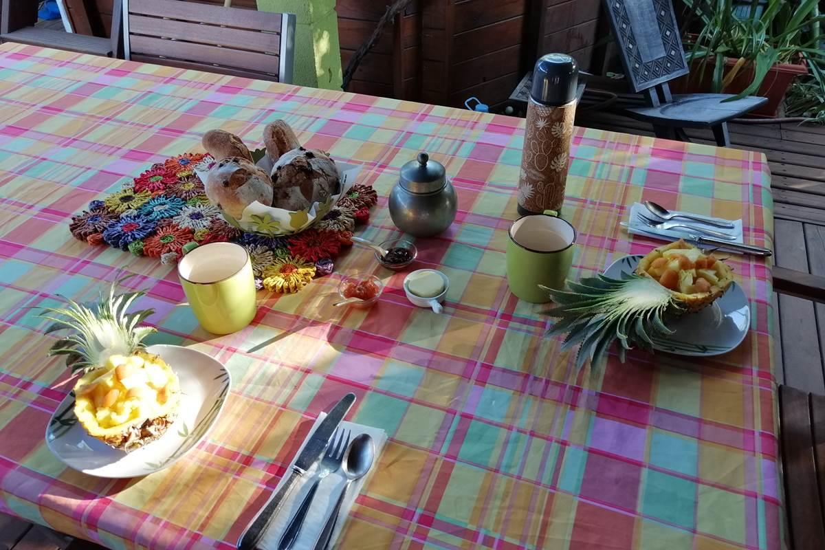 Nos petits déjeuners sous la varangue