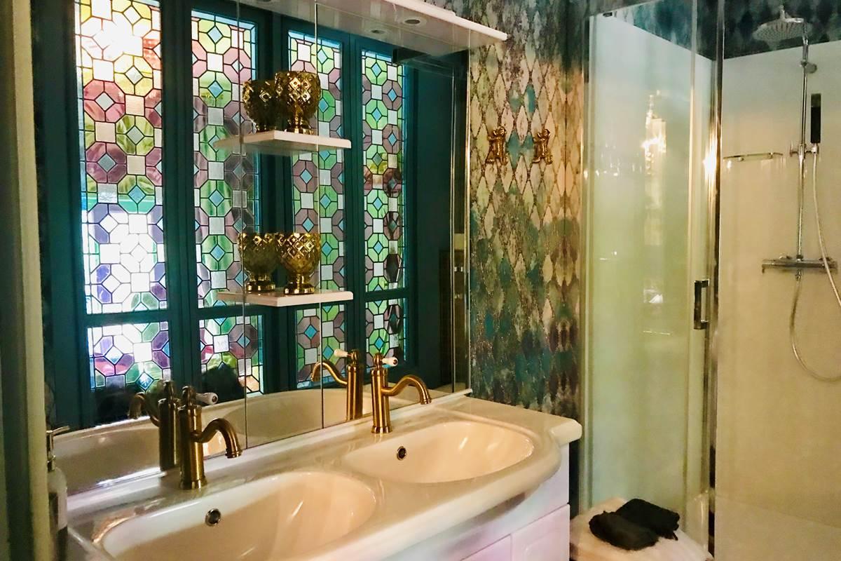 Vintage designed bathroom - Dordogne Périgord