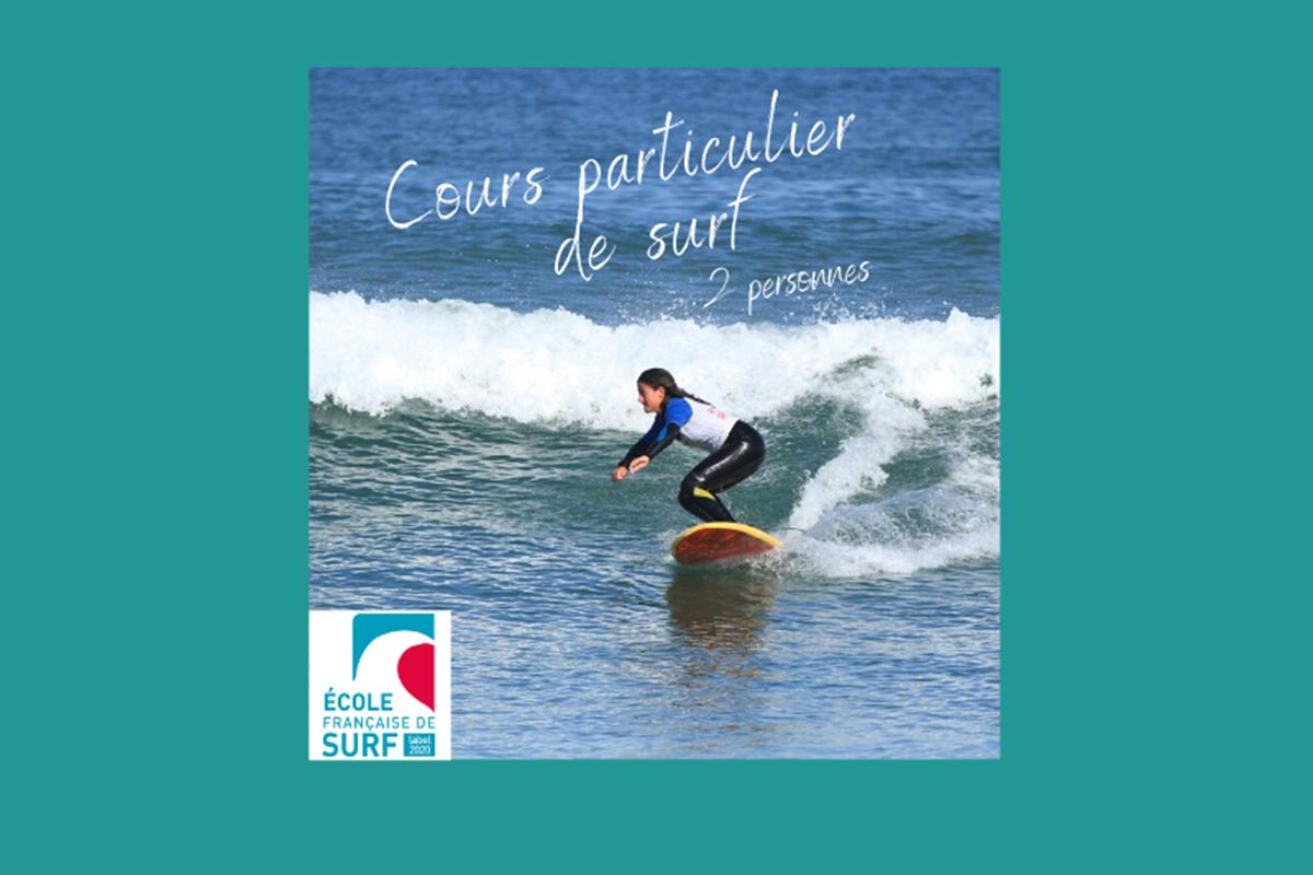 cours particulier de surf - 2 personnes