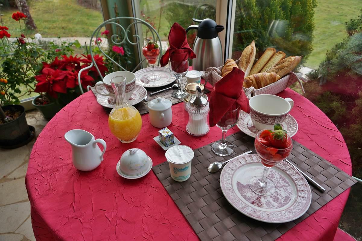 Petit déjeuner-breakfast-perigord-bnb-Les Feuillantines