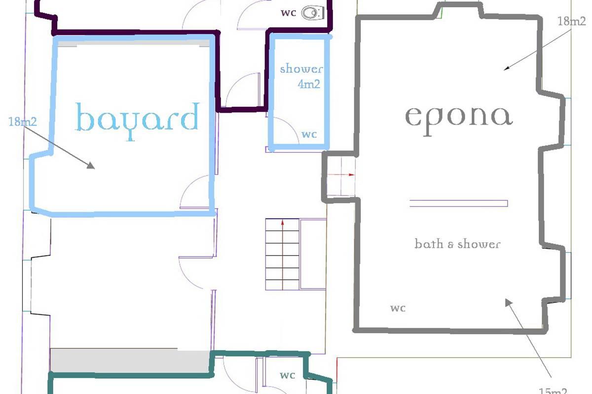 Malignac Grande Maison Plan des chambres