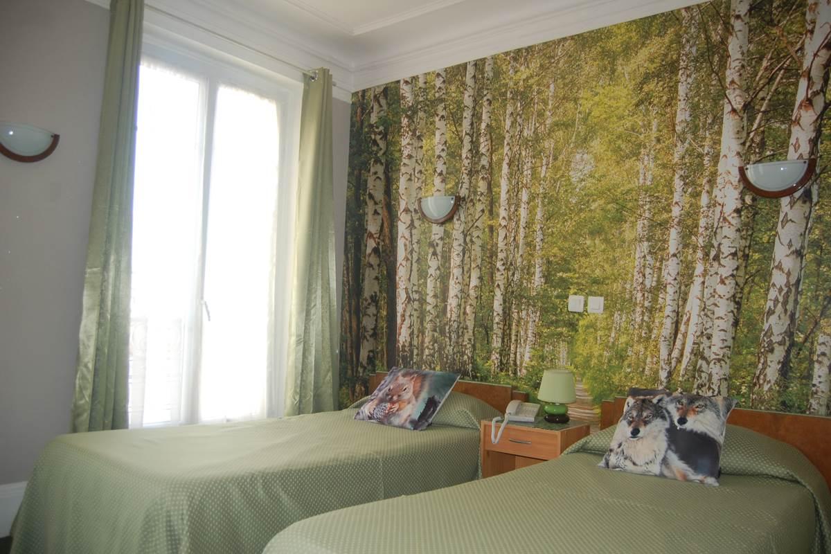 Chambre 2 lits hôtel Jean Bart rive gauche paris 6