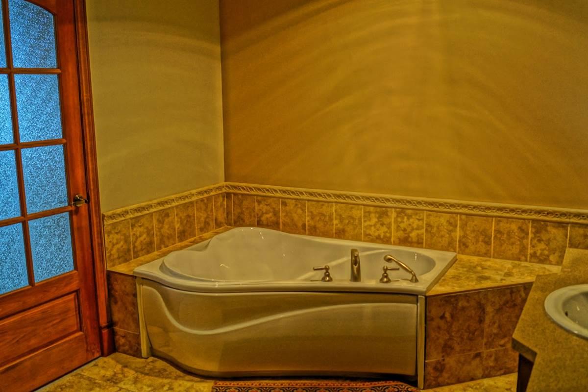 salle de bains du chalet de l'auberge du Lac Thomas