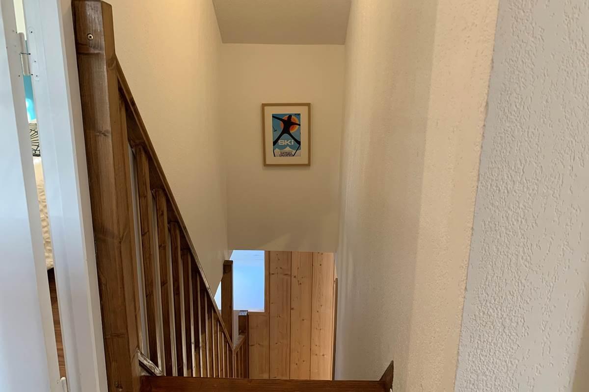 Escalier T3 Appart-Hôtel les Palombières