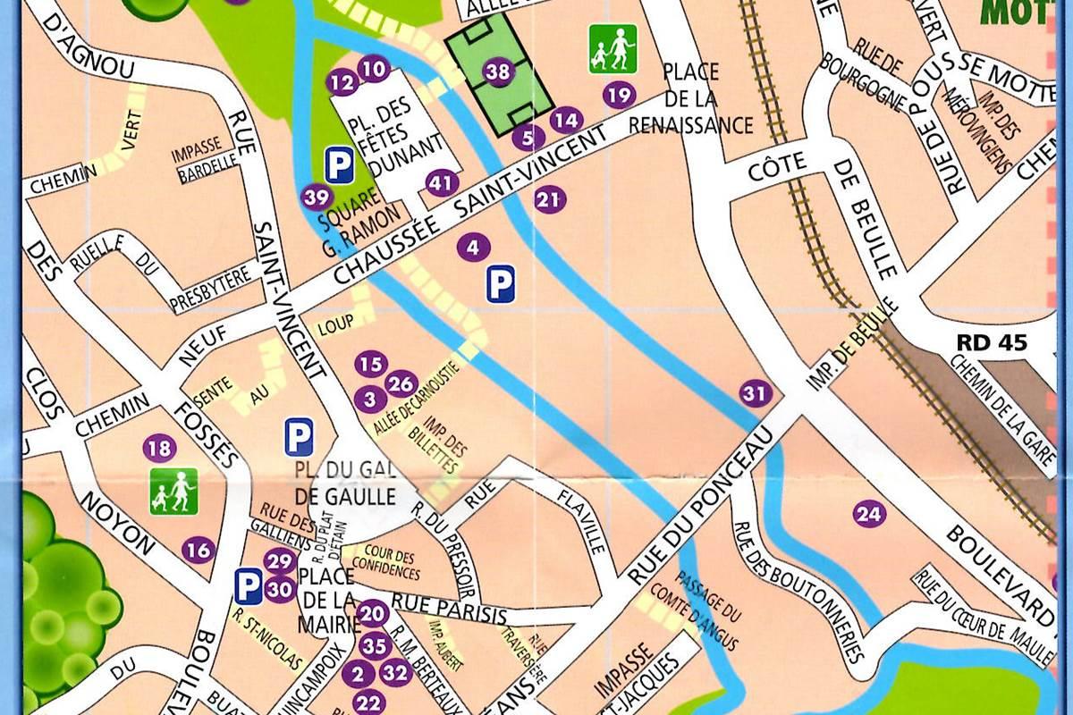 Plan du centre ville de Maule