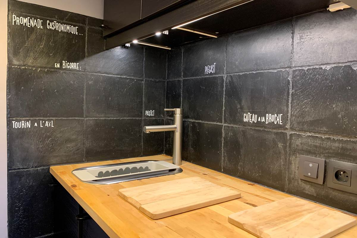 Cuisine - Studio Appart-Hôtel les Palombières