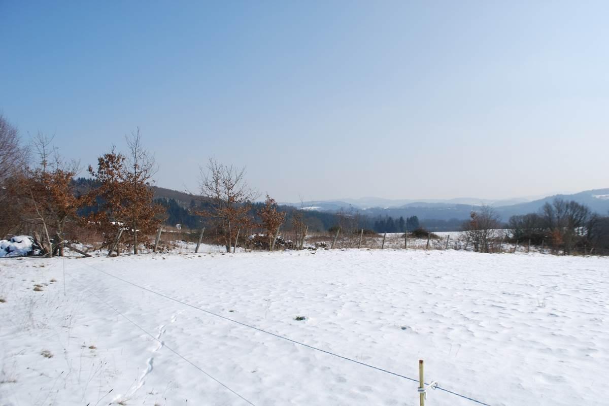 paysage d'hiver, vue devant le Ranch des Lacs Vervialle 87120