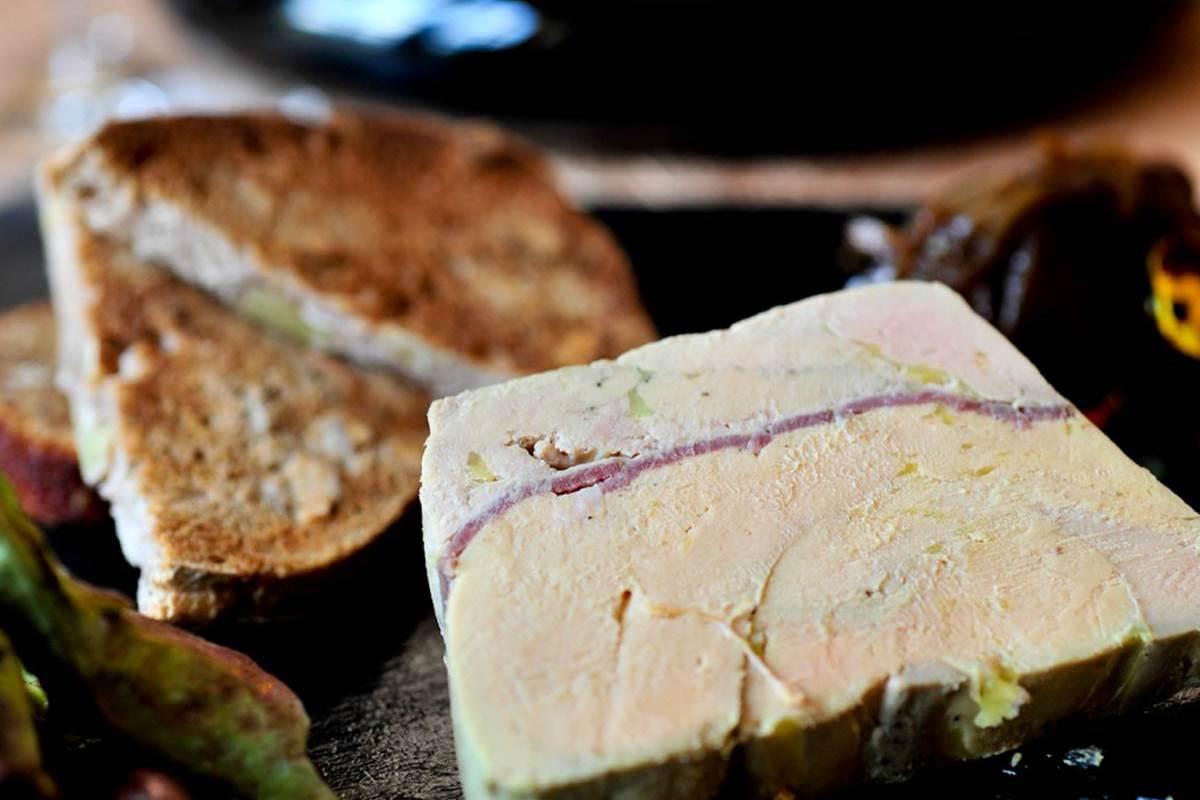 assiette de foie gras de canard - lot