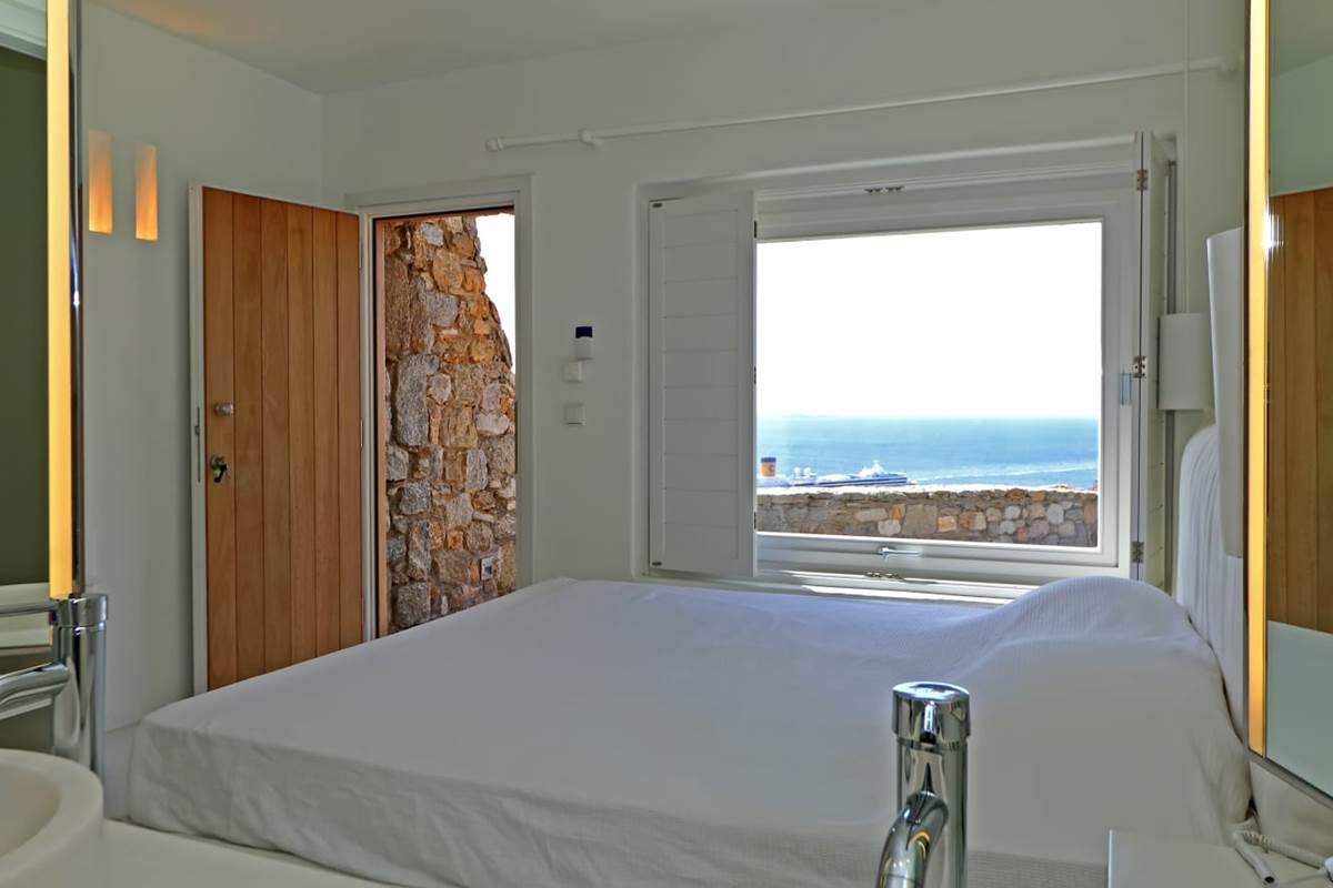 Chambre double king zize villa zélia luxe Mykonos
