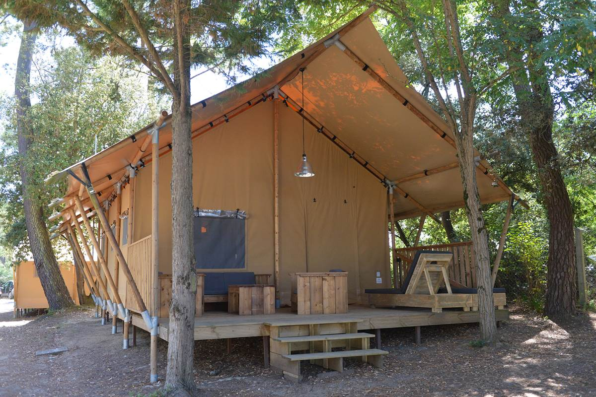 Safari Lodge 6 avec étage - Camping Les Pins - Ile d'Oléron