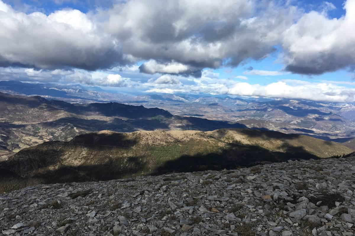 Vue sur les Alpes.
