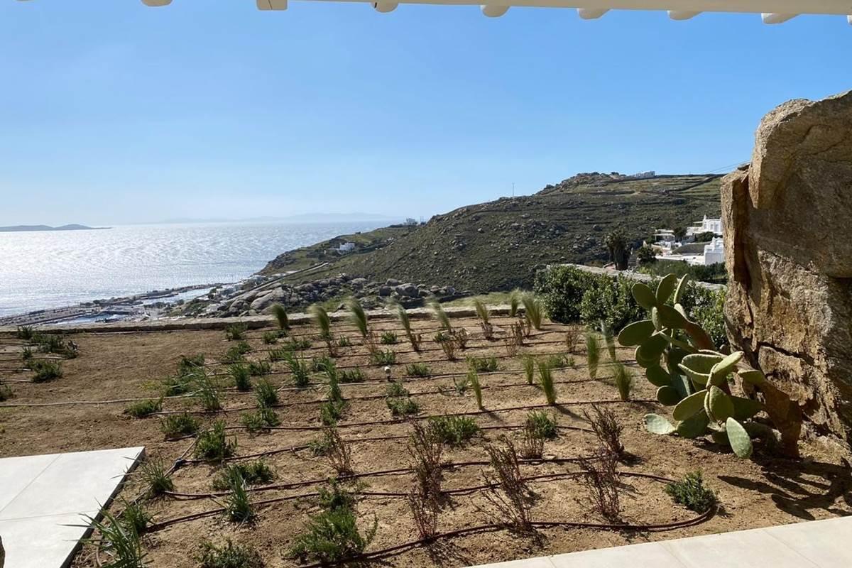 vue du rez de jardin  Villa Zélia
