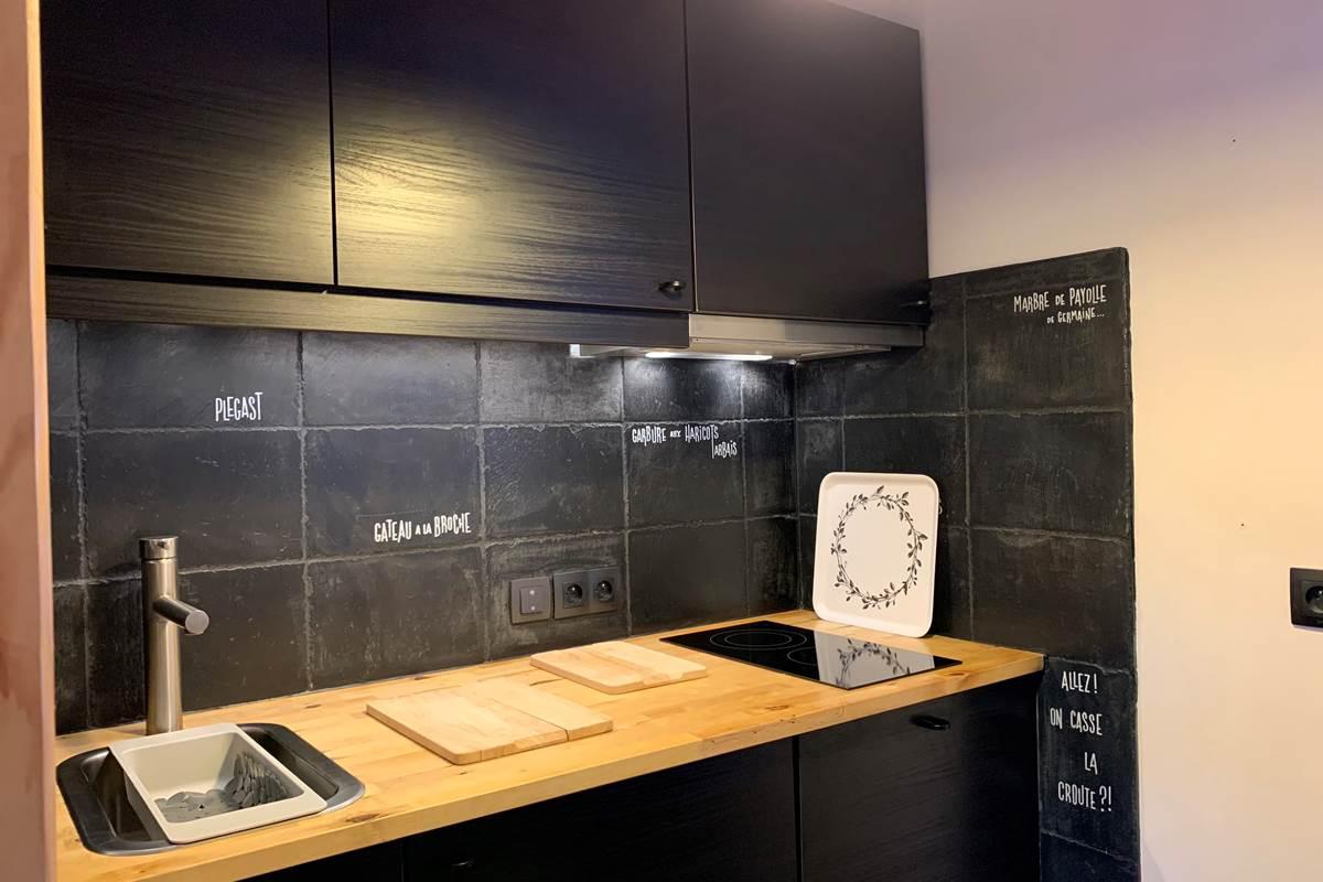 Cuisine Studio Appart-Hôtel les Palombières