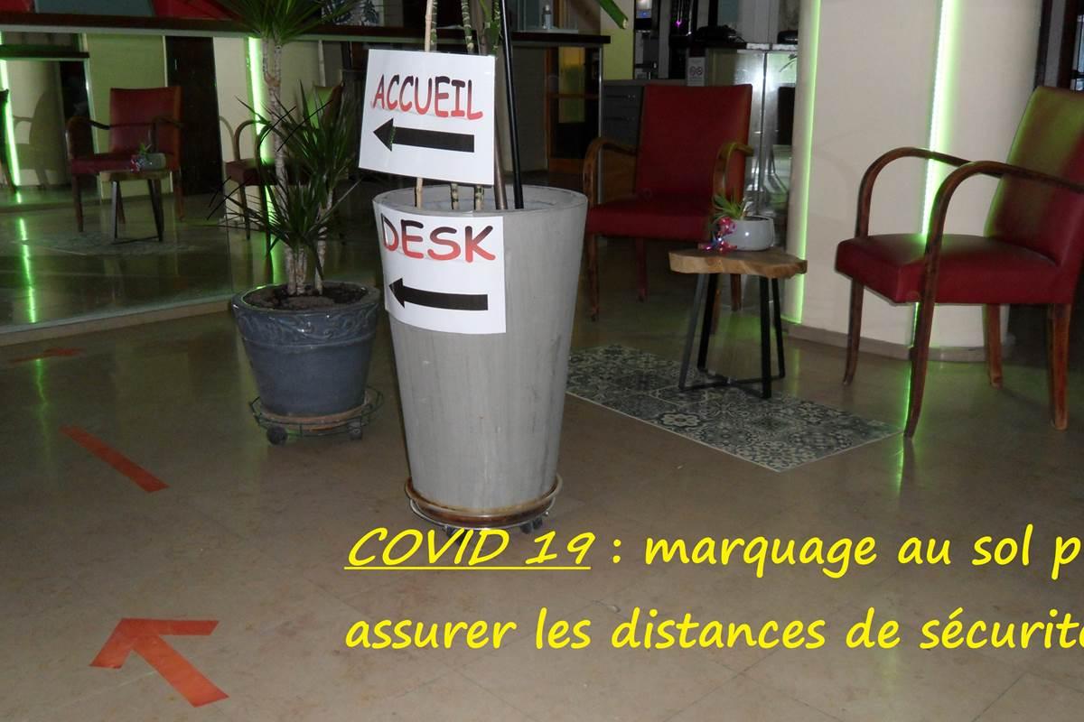 distance de sécurité hall hôtel Jean Bart paris 75006