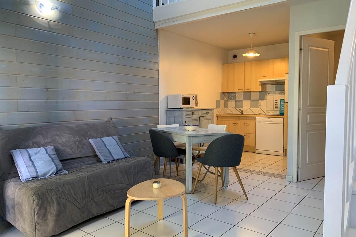 Vue sur cuisine Duplex Appart-Hôtel les Palombières