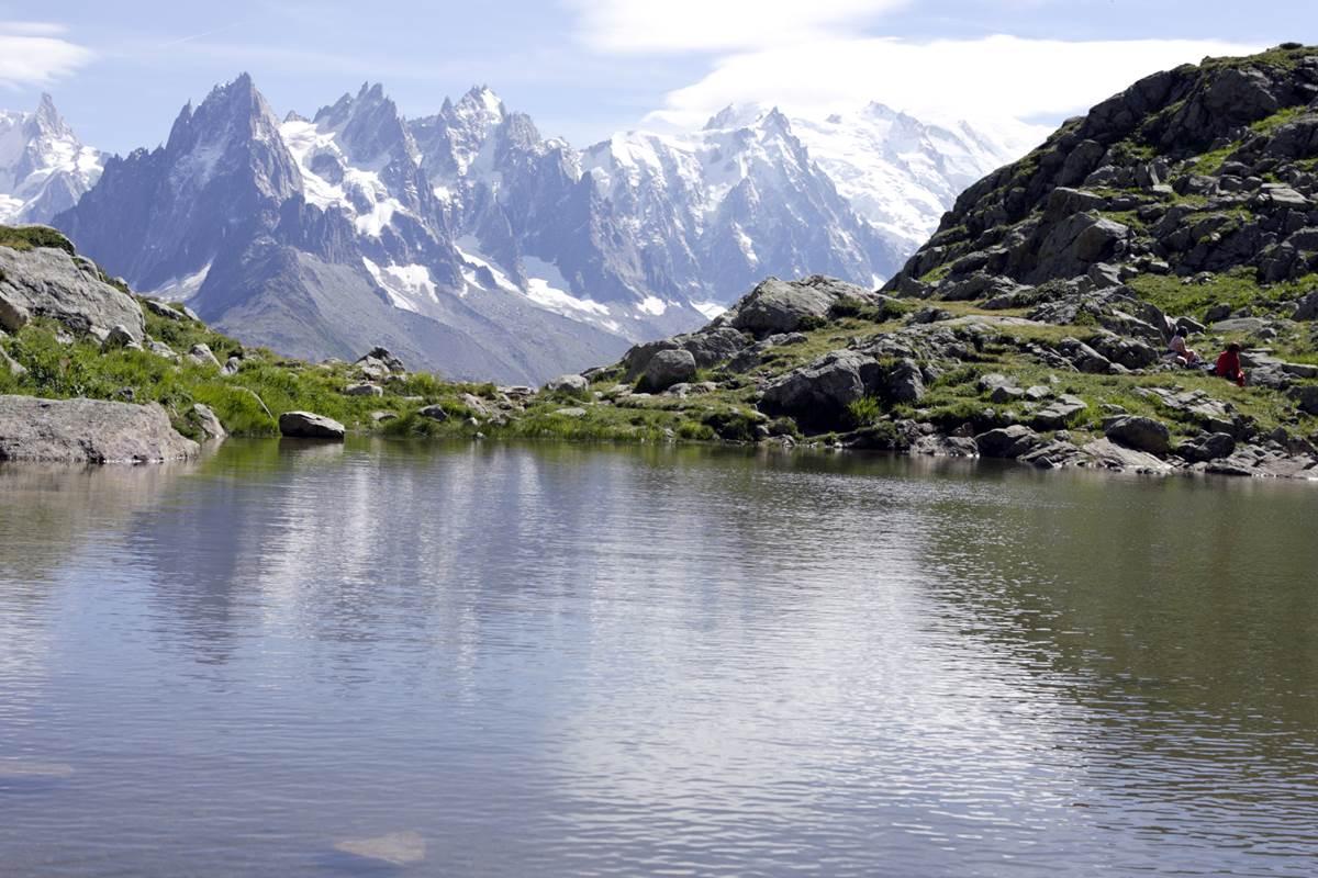 Lac Blanc (panorama inoubliable sur la chaîne du Mont-Blanc)