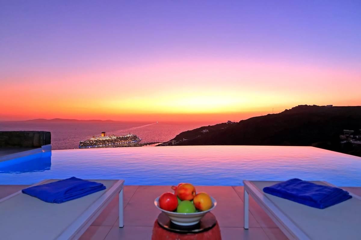 piscine à débordement zélia Mykonos
