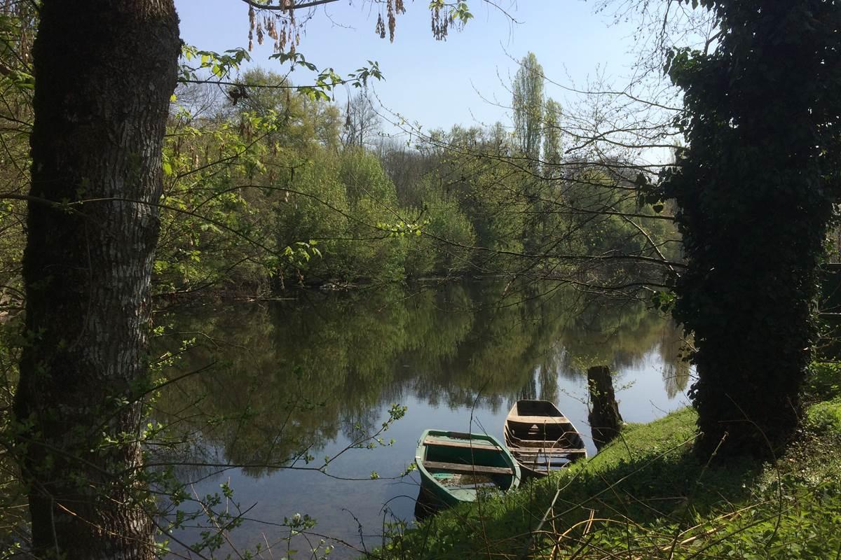 La Dordogne derrière les gîtes