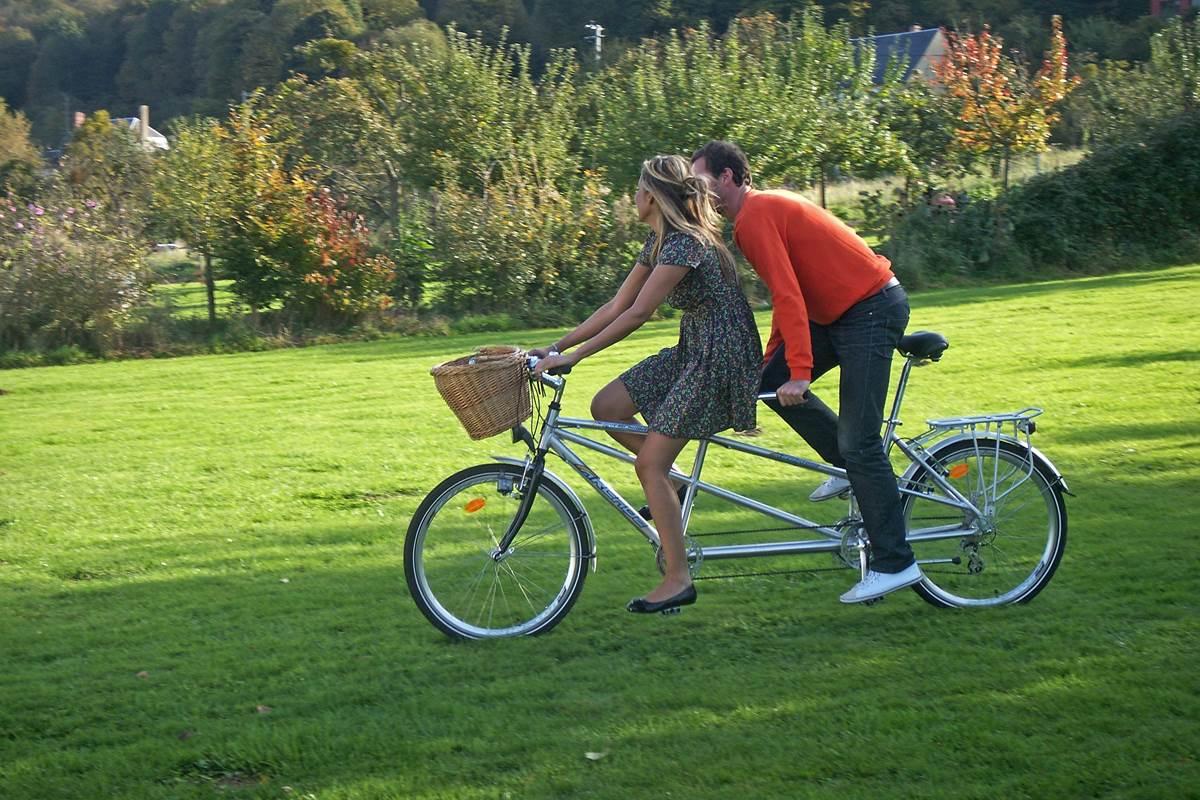 couple vélo @ Les Cigognes