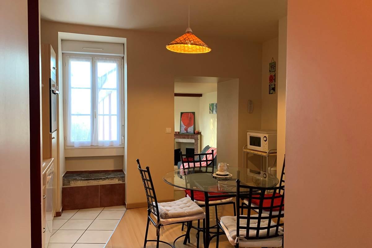 Vue Cuisine T2 Appart-Hôtel les Palombières