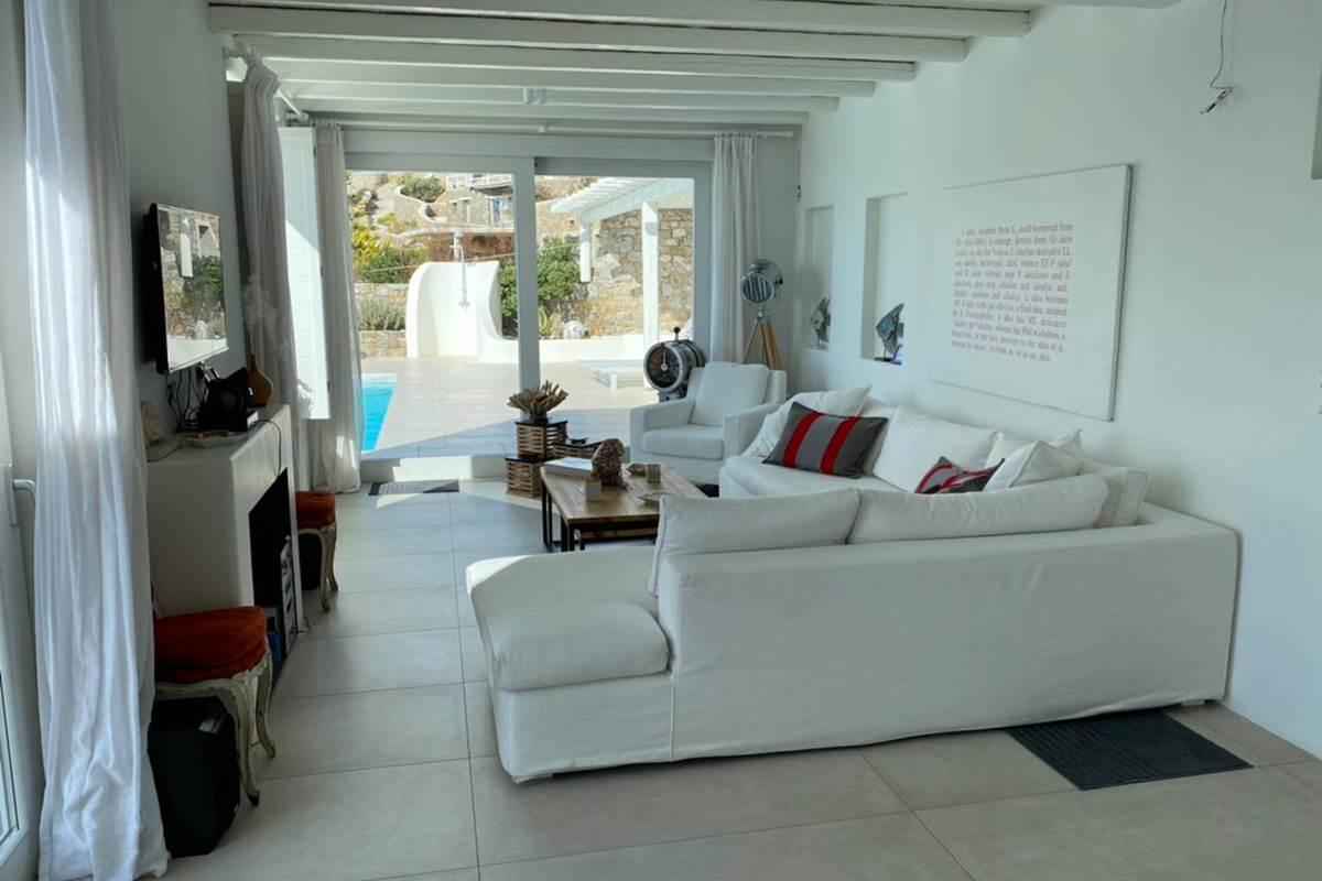 Salon  Vue mer  Villa Zélia Mykonos