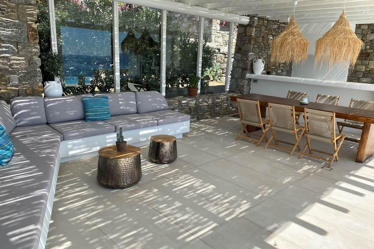 Salon d'été  Villa Zélia  Mykonos