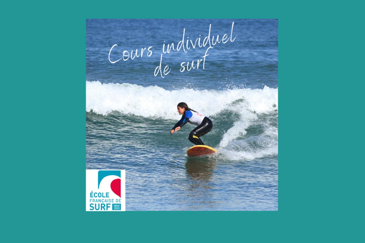 cours individuel de surf