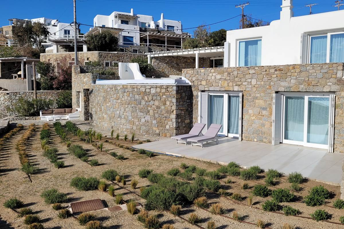 Villa zélia Mykonos jardin